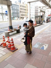 Fukui woman and child