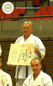 Sensei Denis Casey receives the 8th Dan!